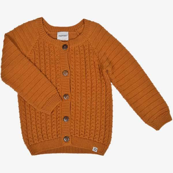 Image of PAPFAR Strikket cardigan - Orange (10539034)