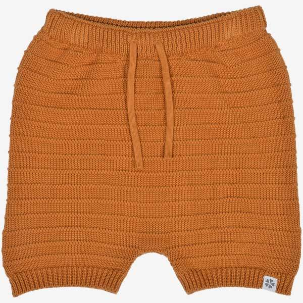 Bukser - PAPFAR Strikket shorts - Orange - MamaMilla