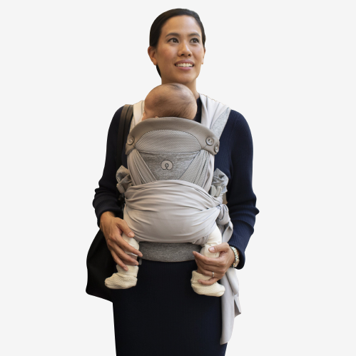 Boppy - Comfy fit luxe bæresele - Pearl - vikle - MamaMilla