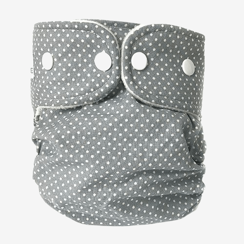 Image of WeeCare cover til ble - Dots Dusty Blue - Large (shopify_DK_4480776470615_31826320588887)