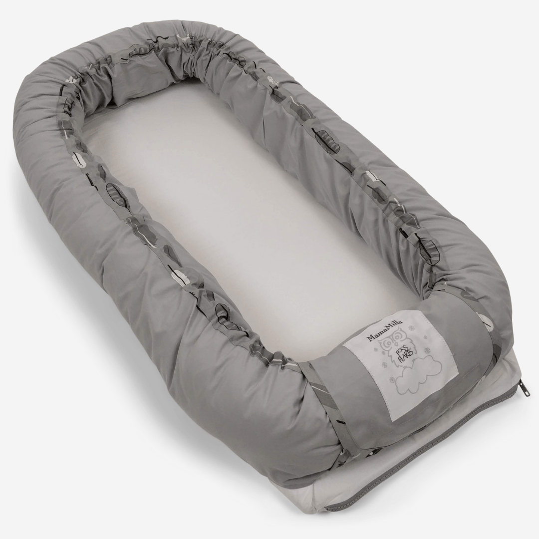 Image of MamaMilla babynest med Fossflakes fyld - Nordic feathers [2. sortering] (shopify_DK_4600401199191_32311720837207)