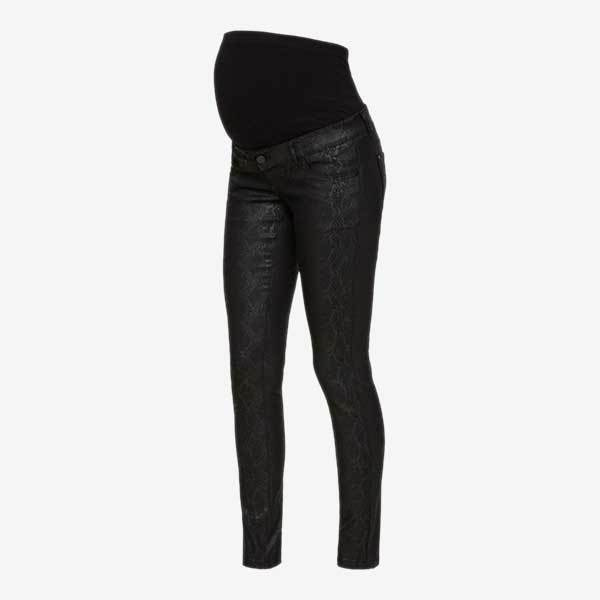 Mamalicious Awareness slange coated ventejeans - Sort