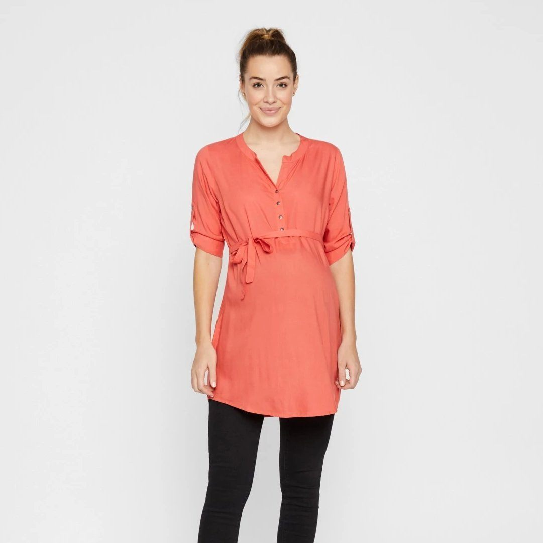 Image of Mamalicious vævet tunika - Coral - M (shopify_DK_4371316834391_31305386393687)