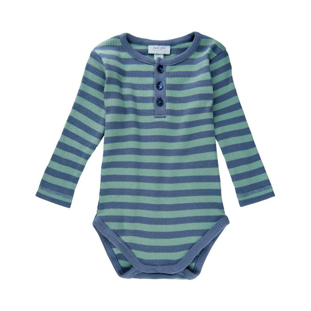 Noa Noa Boy Basic Body - Stribet - Art Blue-body-MamaMilla