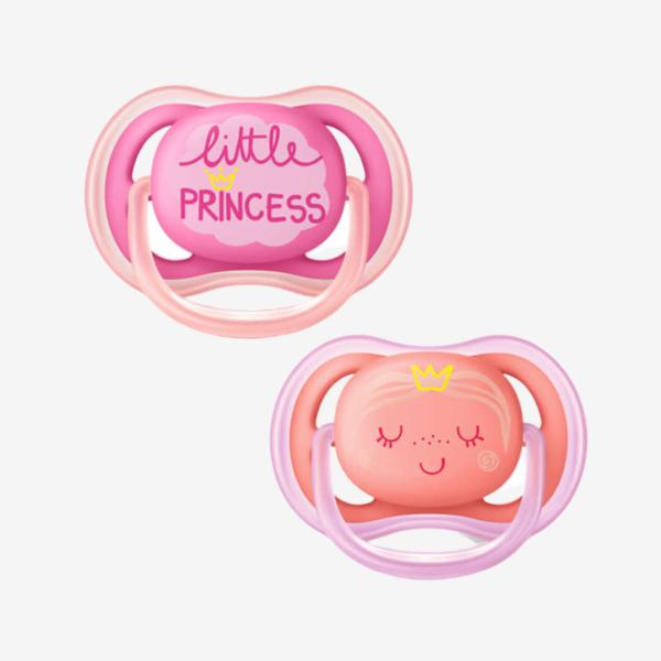 Philips avent 2 pack sutter - Silikone - 6-18 mdr. - Little princess-Sut-MamaMilla