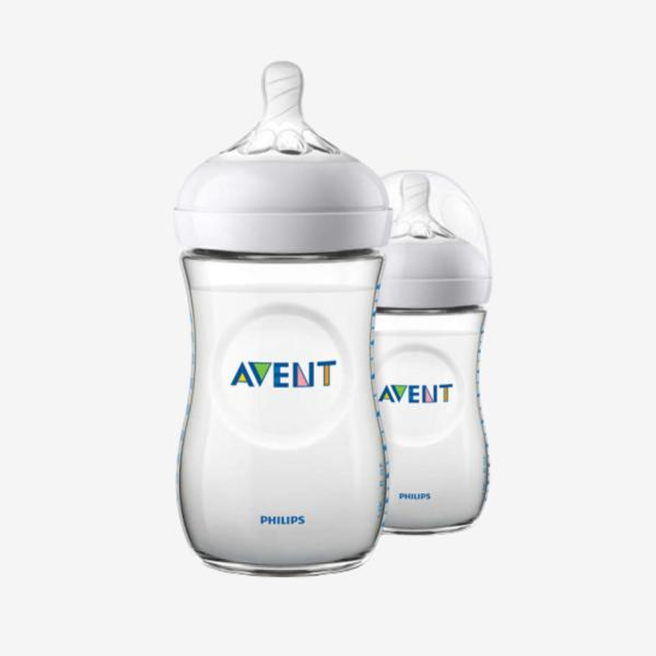 Philips avent 2 pack sutteflasker - Natural - 260 ml.-Flaskebarn-MamaMilla