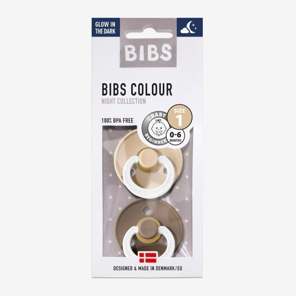 Image of Bibs 2pack sutter - Dark Oak/Vanilla Night - Str. 1 (0-6 mdr.) (shopify_DK_4547213885527_32473607766103)