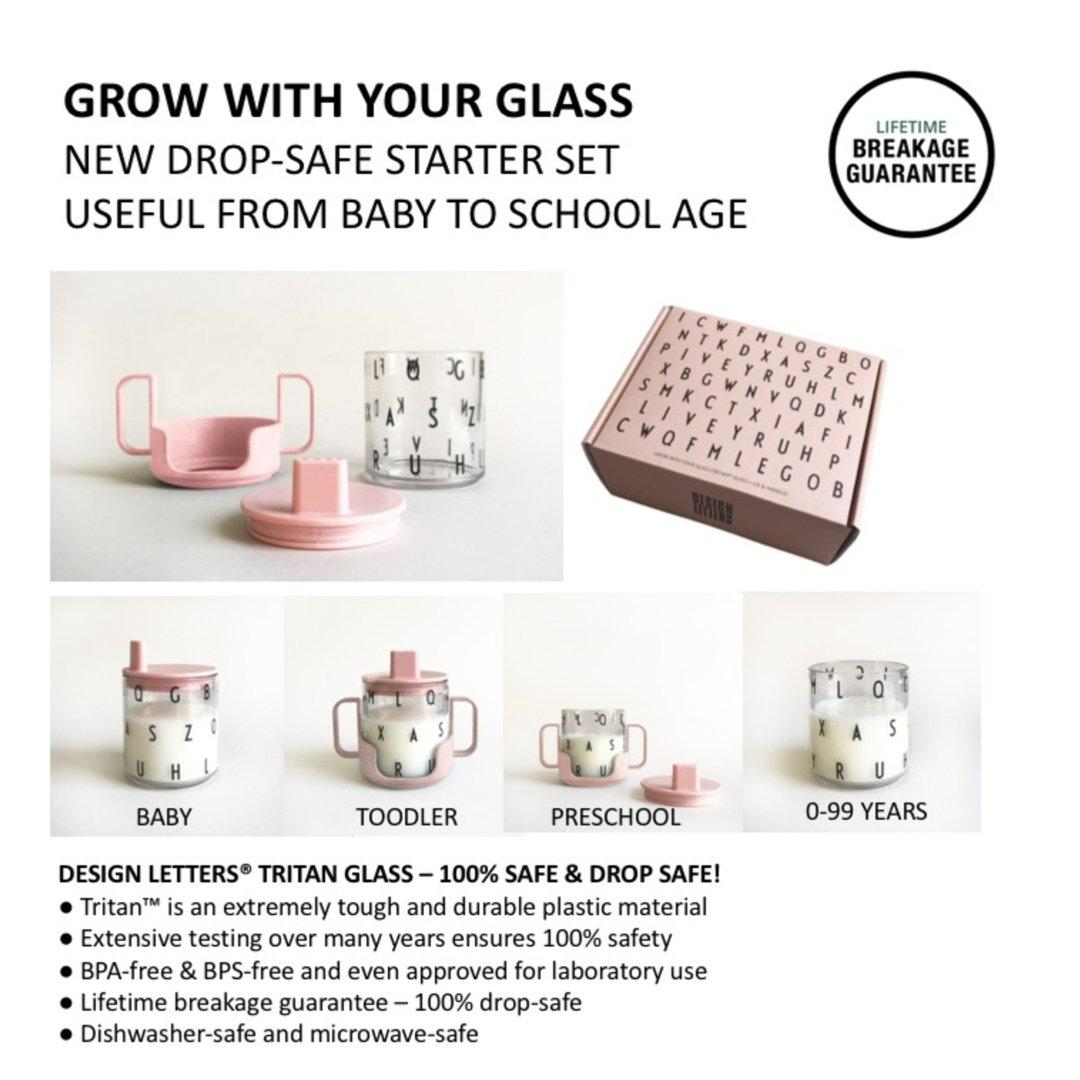 Design Letters - Gavesæt: Grow with your glass (Mintgrøn) - Spise-service - MamaMilla