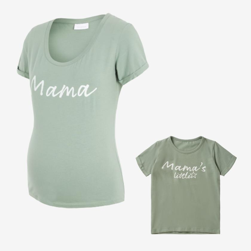 Image of Mamalicious Mommy and me t-shirts - Mintgrønne - 92 / large (shopify_DK_4479222251607_31819722293335)