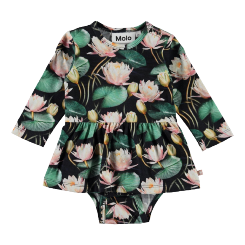 Image of Molo body med skørt - Water Lilies (43599626)