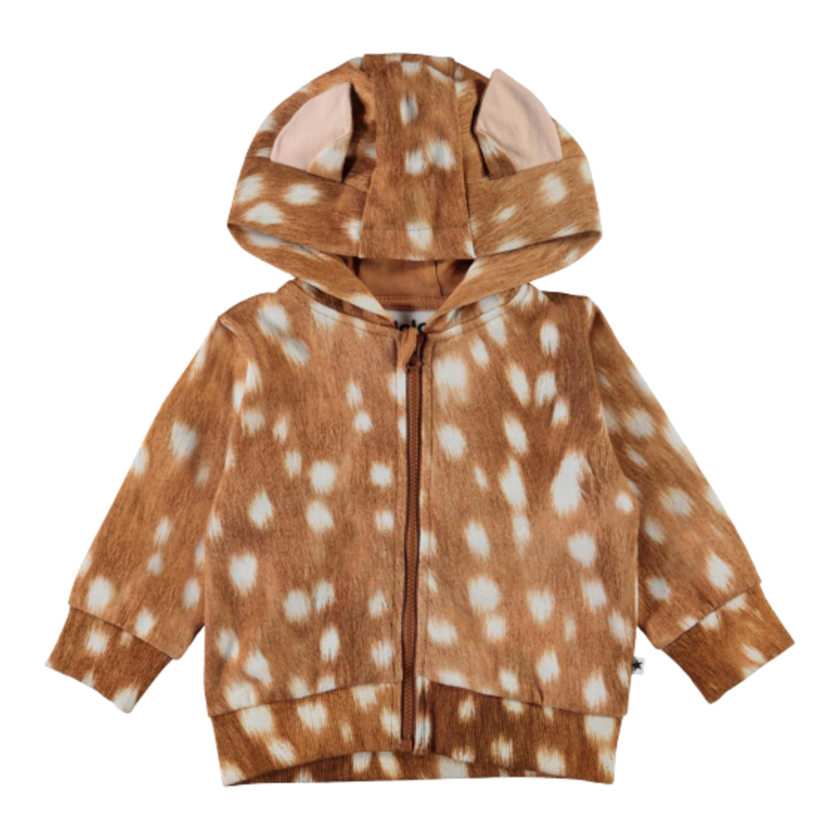 Image of Molo hoodie - Fawn AOP (43599768)
