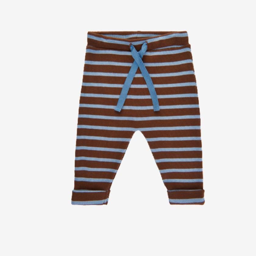 Noa Noa Basic Bukser - Striber - Art Brown - Leggings - MamaMilla