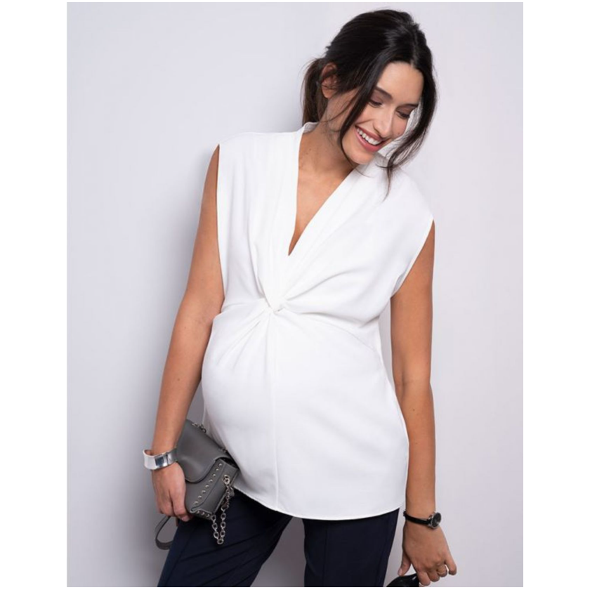 Image of Seraphine Vente-top med front-twist - Rylie - Creme (43600752)
