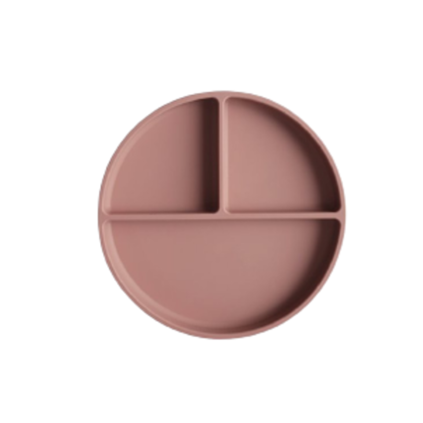 Image of Mushie - Silicone Suction Plate - Cloudy Mauve (shopify_DK_6578610503767_39353859506263)