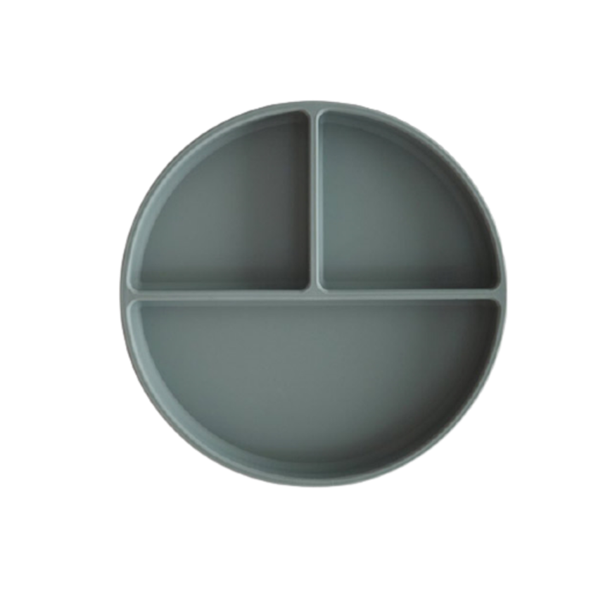 Image of Mushie - Silicone Suction Plate - Dried Thyme (shopify_DK_6578614599767_39353872613463)