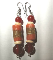 Exotic African Bead Earrings.