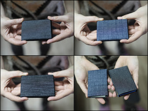 Minimalist Wallets, NERO Denim Wallet -  NO RFID protection - NERO Minimalist Wallet