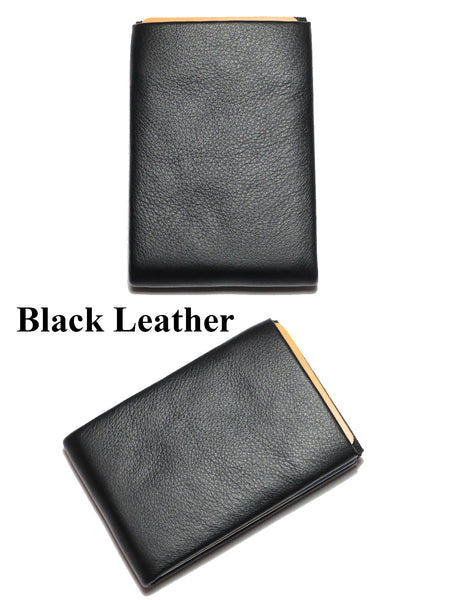 Minimalist Leather Wallets, RFID Blocking Wallets New Generation Nero Wallet -  3 RFID protected pockets for credit cards and 2 RFID pass - NERO Minimalist Wallet