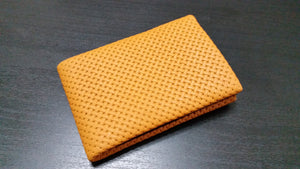 02 Design Pattern Leather - RFID protection 4 +1 - NERO Minimalist Wallet