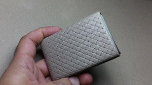 03 Design Pattern Leather -  FULL RFID protection - NERO Minimalist Wallet