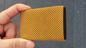 02 Design Pattern Leather - WITHOUT RFID PROTECTION - NERO Minimalist Wallet