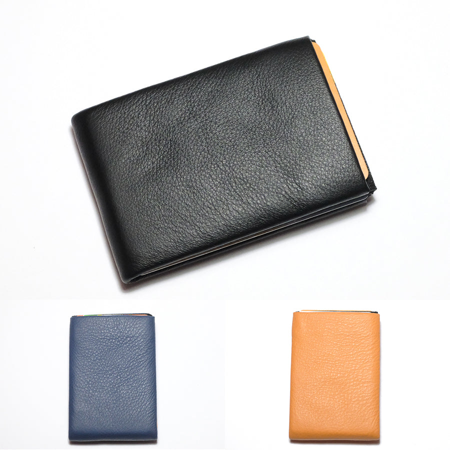 Minimalist Leather Wallets, RFID Blocking Wallets New Generation Nero Wallet -  4 RFID protected pockets for credit cards and 1 RFID pass - NERO Minimalist Wallet