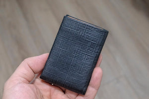 05 Design Pattern Leather - RFID protection 3+2 - NERO Minimalist Wallet