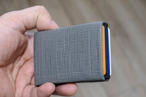 05 Design Pattern Leather -  FULL RFID PROTECTED - NERO Minimalist Wallet