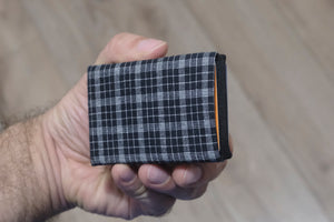 Vegan Wallet - Design Fabric - NERO Minimalist Wallet
