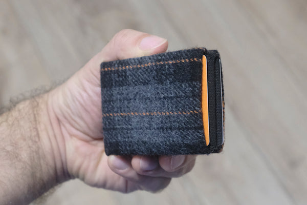 Vegan Wallet, Design Wool Mens Wallet, Minimalist Wallet, Design Wool Womens Wallet Slim Wallet - RFID Blocking Wallet - Limited Edition - NERO Minimalist Wallet