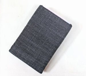 Vegan Denim - Minimalist Wallet -  NO RFID protection - NERO Minimalist Wallet