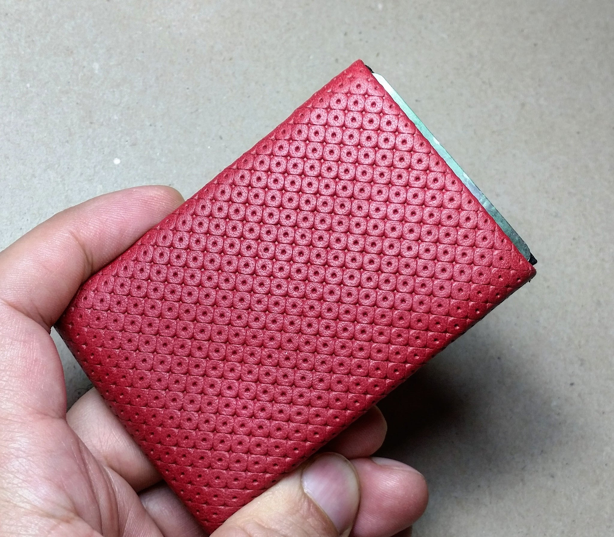 01 Design Pattern Leather - WITHOUT RFID PROTECTION - NERO Minimalist Wallet