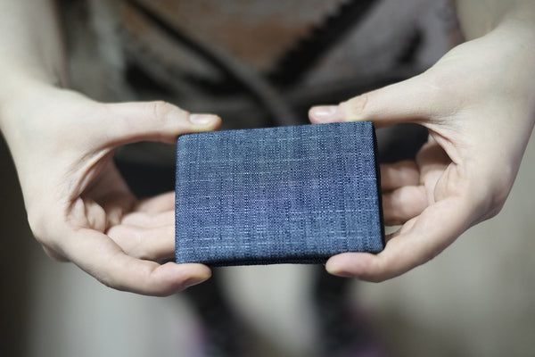 Minimalist Wallets, RFID Blocking Wallets, NERO Denim wallet -  FULL RFID protection - NERO Minimalist Wallet