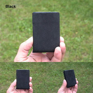 Black Alcantara® Minimalist Wallet - RFID Blocking Wallet - Limited Edition - NERO Minimalist Wallet