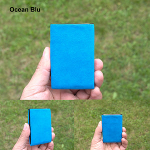 Blu Ocean Alcantara® Minimalist Wallet - RFID Blocking Wallet - Limited Edition - NERO Minimalist Wallet