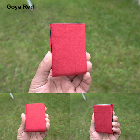 Goya Red Alcantara® Minimalist Wallet - RFID Blocking Wallet - Limited Edition - NERO Minimalist Wallet