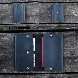 Leather Passport holder - Passport wallet - NERO Minimalist Wallet