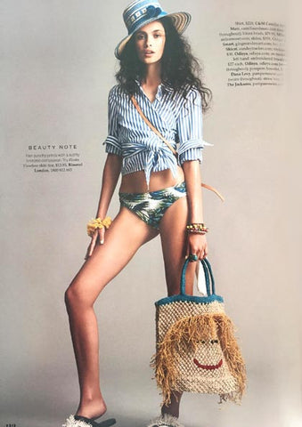 Dana Levy Mini Hamsa Hand Charm Pompom Midi Friendship Bracelet Featured in Elle Australia