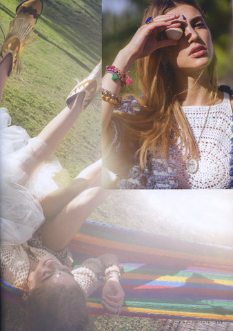 Elle Italia Dana Levy Multicolour Diamante Charm Friendship Bracelet