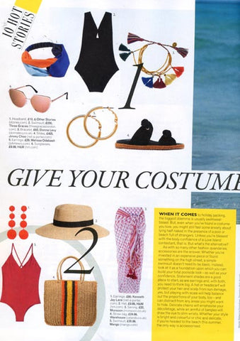 Grazia Magazine Featuring Multicolour Tassel Friendship Bracelet by Dana Levy