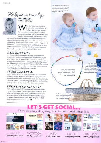 Baby Magazine featuring Dana Levy's DIY Personalised Name Alphabet Rainbow Beaded Necklace.