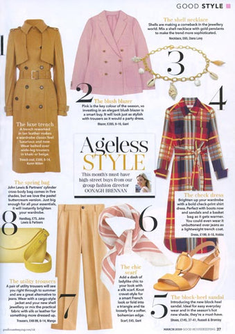 Good Housekeeping Magazine featuring Dana Levy Gold Beach Treasure Charms Woven Cord Chain Necklace