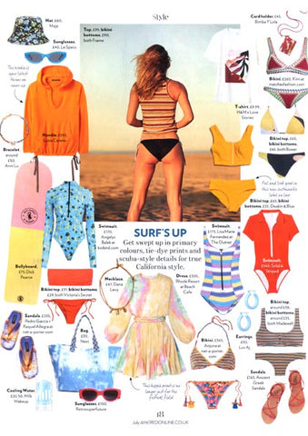 Red Magazine Featuring Dana Levy Midas Seashell Charm Trio Leather Cord Necklace.
