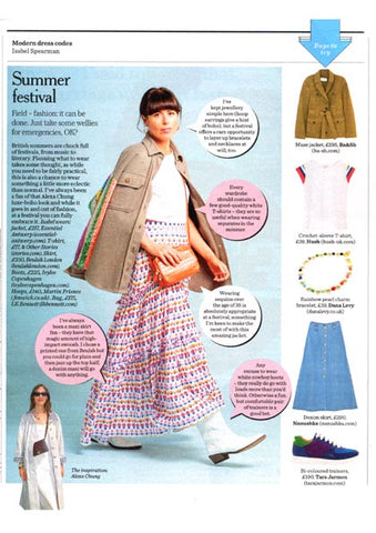 Sunday Telegraph Stella Magazine featuring Dana Levy Rainbow Pearl Glass Bead Bracelet