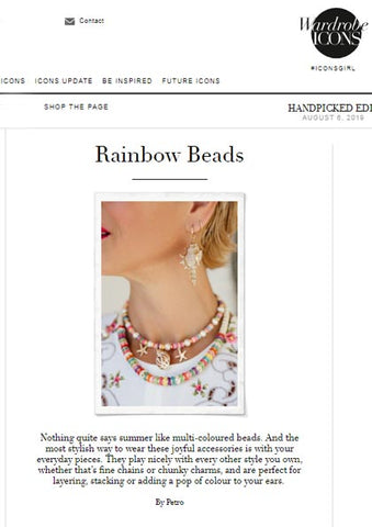 Wardrobe Icons featuring Deborah Brett wearing Dana Levy's Multicolour Howlite Gemstone Wave Necklace