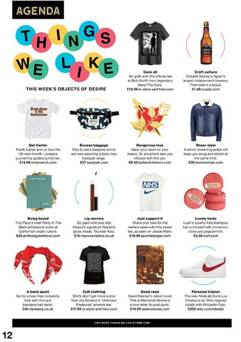 Dana Levy Bandana Hairband Featured in NME Magazine February 2017