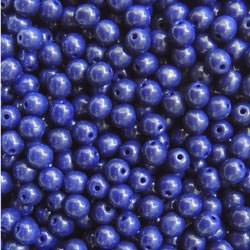 Navy Blue Glass Bead