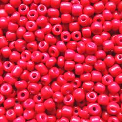 Red Glass Seed Bead