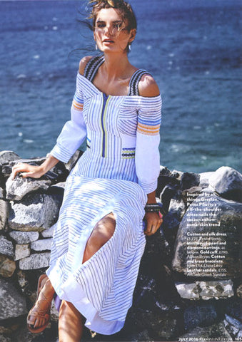 Dana Levy Evil Eye Tassel Double Wrap Aztec Cord Bracelet featured in Red Magazine