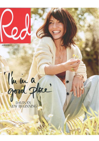 Davina Mccall Wearing a Dana Levy Neon Evil Eye Ring on Cover of Red Magazine June 2018